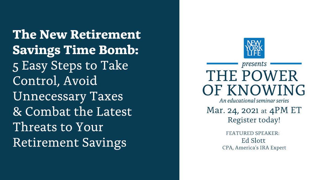 Webinar: The New Retirement Savings Time Bomb